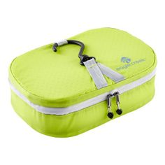Now you can travel lighter than ever with our Eagle Creek™ Specter Pack-It™ Wallaby Organizer. It holds everything you'll need to freshen up while traveling and the padded exterior protects the contents.
