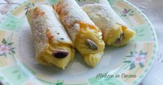 Cannoli, Biscotti, Dessert, Cookies, Dolce, Ethnic Recipes, Fancy, Food, Gastronomia