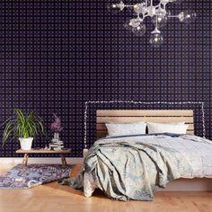 Tartan Wallpaper, Grid Wallpaper, Waves Wallpaper, Dark Wallpaper, Peel And Stick Wallpaper, Pattern Wallpaper, Buy Vinyl, Daisy Pattern, Moroccan Tiles
