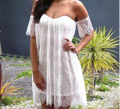 White lace dress BB1028B