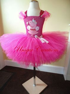 Peppa pig inspired tutu dress by uniquecreationsx on Etsy