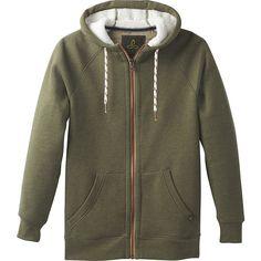 PrAna Lifestyle Full Zip Lined Hoodie - M - Cargo Green - Men's... ($129) ❤ liked on Polyvore featuring men's fashion, men's clothing, men's hoodies, green, mens green hoodie, mens hooded sweatshirts, mens fleece lined hoodies, mens full zip hoodie and mens hoodie