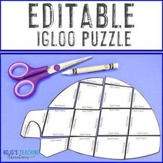 EDITABLE Igloo Centers or Activities - Use with an Ice and Snow Lesson Plan! |  1st, 2nd, 3rd, 4th, 5th, 7th, 8th grade, Activities, English Language Arts, Fun Stuff, Games, Homeschool, Math, Middle School, Winter