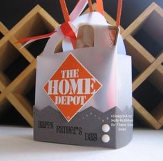 tutorial: father's day mini in home depot gift card holder; tag