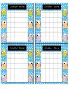 OWL THEMED Incentive Charts product from Leading-and-Reading on TeachersNotebook.com