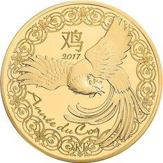 50 Euro Gold Lunar Hahn PP
