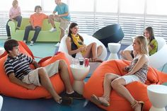 I like the color combination and bean bags. -Mary
