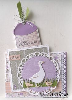byMarleen Marianne Design Cards, Mother Goose, Bird Cards, Animal Cards, Bird Houses, I Card, Craft Projects, Birds, Joy