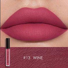 Smudge Proof Lipstick, Wine Lipstick, Liquid Lipstick, Fall Lipstick, Matte Lipstick Shades, Lipstick Colors, Lip Colors, Paint Colors, Red Lip Makeup