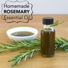 Destress by infusing your bath with this homemade rosemary infused oil.
