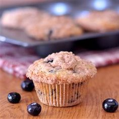 I made these blueberry muffins this morning - oh so yummy!