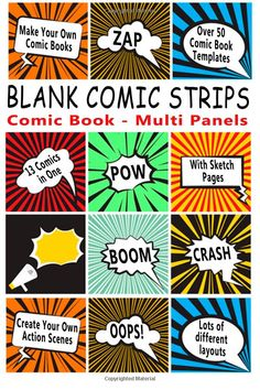 Shop for Comic Book: Blank Comic Strips: Make Your Own Comics With This Comic Book Drawing Paper - Multi Panels (blank Comic Books). Starting from Choose from the 4 best options & compare live & historic book prices. Blank Comic Book, Free Comic Books, Comic Page, Create Your Own Story, Make Your Own, Make It Yourself, Comic Strip Template, Comic Strips, Zap Comics