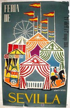 Cartel Feria de Primavera de Sevilla 1960