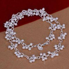 Fashion Surb Balls Necklaces For Women Jewellry Charm Graps Beads Necklaces Chain chokers Mujer cadenas de plata SNP156