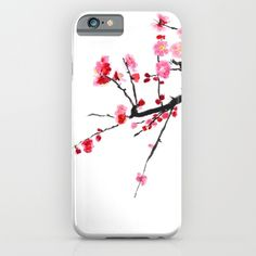 red+plum+flower++iPhone+&+iPod+Case+by+Color+And+Color+-+$35.00