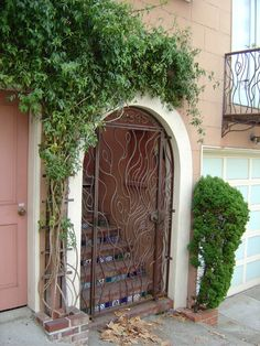 A beautiful arched door on Lombard Street; San Fransico, CA. Augustine Of Hippo, Lombard Street, Simply Beautiful, Wonders Of The World, Roads, Gates, Places To Travel, Places Ive Been, Beautiful Pictures