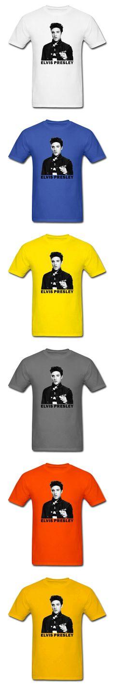 Men's T Shirts ELVIS PRESLEY Rock King Short Sleeve Graphics T-Shirts Funny Shirts For Man Top Tee Harajuku Hipster Hip Hop tee