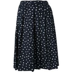COMME DES GARONS COMME DES GARONS polka dot skirt ($590) ❤ liked on  Polyvore featuring skirts, bottoms, knee length pleated skirt, navy polka  dot skirt, ...