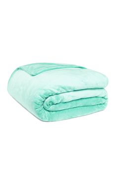 Primark - Plain - Mint Green Throw