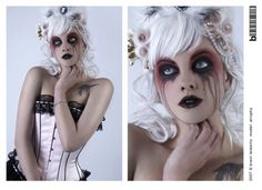 gory gruesome  special fx halloween makeup beautiful
