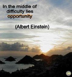 Though when one finds themselves in tough times, it can be difficult to see these opportunities.....