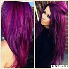 - All For Hair Color Balayage Hair Color 2018, Hair Color Purple, Hair Color And Cut, Blue Hair, Bright Purple Hair, Violet Hair Colors, Cute Hair Colors, Cool Hair Color, Cabello Color Magenta
