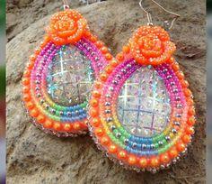 Beaded Earrings Native, Native Beadwork, Seed Bead Earrings, Native American Earrings, Native American Beadwork, Brick Stitch Earrings, Beadwork Designs, Bead Sewing, Nativity Crafts