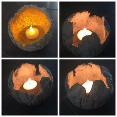 Kreative Mitbringsel aus Beton: Stimmungsvolles Licht