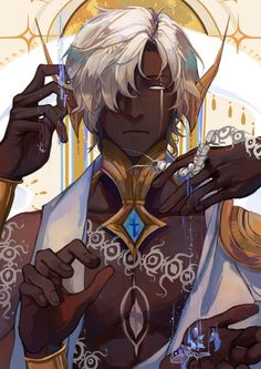 Fantasy Character Design, Character Design Inspiration, Character Concept, Character Art, Fantasy Art Men, Anime Fantasy, Black Anime Characters, Fantasy Characters, Cute Anime Guys