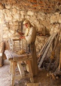 Nazareth Village Carpenter - Photo by Andrew Dowsett Nazareth Village, Journey To Bethlehem, Arte Judaica, Jerusalem Israel, Nazareth Israel, Sea Of Galilee, Archaeological Finds, Bible For Kids, Holy Land