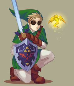 The real quesion is this; Is that Strider dressed as Link, or is it Link pretending to be Strider?