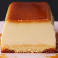 Desserts Recipes Purunpurun ♪ two layers of pudding cake Just Desserts, Delicious Desserts, Yummy Food, Tasty, Flan Recipe, Pudding Cake, Food Cakes, Desert Recipes, Baking Recipes
