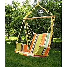 @Overstock - Sit back, relax and get cozy with the Deluxe Rainbow Hanging Hammock Sky Swing Chair. This attractive and comfortable swing chair makes a great addition to any porch, tree limb, or overhang.http://www.overstock.com/Home-Garden/Deluxe-Rainbow-Hanging-Hammock-Sky-Swing-Chair/4877476/product.html?CID=214117 $79.99
