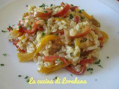 Il Risotto ai peperoni è una ricetta vegana, non contenendo nessun ingrediente di origine animale, ma solo tutto il gusto e le vitamine dei peperoni.