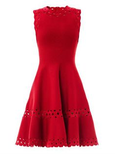 Macramé cut-out detail dress | Azzedine Alaïa | MATCHESFASHION...