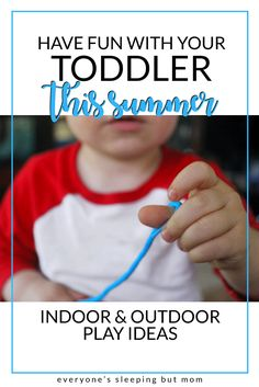 How to Have Fun with Your Toddler This Summer. Great indoor and outdoor activities to keep your toddler busy all summer long. Everyone's Sleeping but Mom Alphabet For Toddlers, Fun Activities For Toddlers, Birthday Activities, Halloween Activities For Kids, Infant Activities, Baby Activites, Montessori Activities, Toddler Learning, Toddler Fun