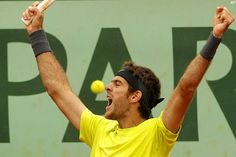 Juan Martin Del Potro moves on to face Federer in Quarters of French