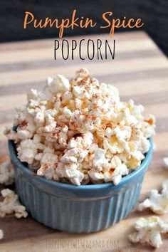 This recipe for Pumpkin Spice Popcorn is healthy & delicious! #SkinnyGirlSnacks #shop Fall Snacks, Snacks To Make, Yummy Snacks, Healthy Snacks, Snack Recipes, Healthy Popcorn Recipes, Delicious Recipes, Pumpkin Recipes, Fall Recipes