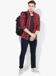 f6908cbb61 Buy John Players Navy Blue Solid Skinny Fit Chinos Online - 3743674 - Jabong