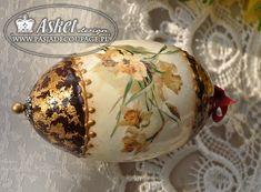 Керамические яйца и гуся взорван - Конечно декупаж