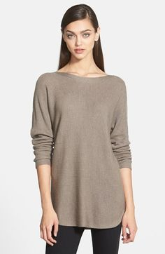 so so so soft and great length for leggings  Trouve Trouvé Shirttail Hem Sweater available at #Nordstrom