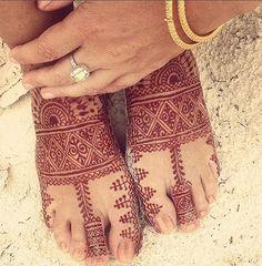 Summer Mehndi Stain on Feet #henna #mehndi