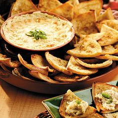Cheese Dip with Pita Chips