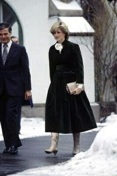 12 February 1984 Princess Diana visits the British Embassy on her solo tour of Norway before returning to England
