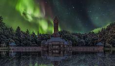 Aurora Borealis over National Park Hoge veluwe Holland by Will Hendriks on 500px