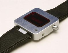 Vintage 1975 LIP LED Watch designed by Roger Tallon