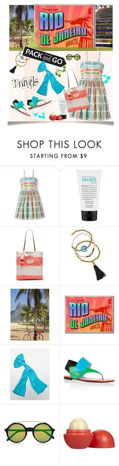 """Pack & Go: Rio de Janeiro"" by grapecrush ❤ liked on Polyvore featuring Boden, philosophy, Seafolly, Helix & Felix, Calvin Klein, Pollini, Gucci, Eos, women's clothing and women's fashion"