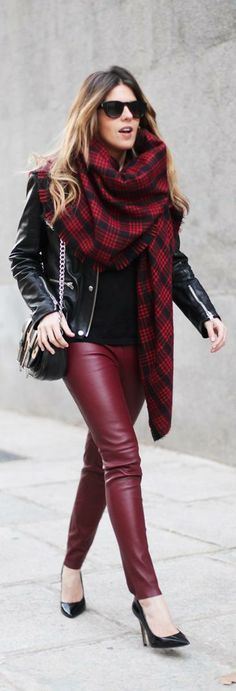 Perfecto & Plaid Scarf http://www.miarmarioenruinas.com/perfecto-plaid-scarf/