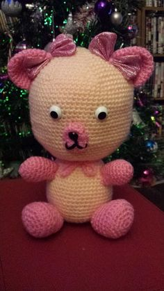 Special teddy made with safety eyes