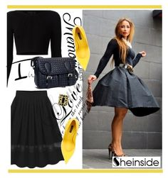 """sheinside 10 (18)"" by alejla ❤ liked on Polyvore featuring Cushnie Et Ochs, Dolce&Gabbana, Anello and Sheinside"